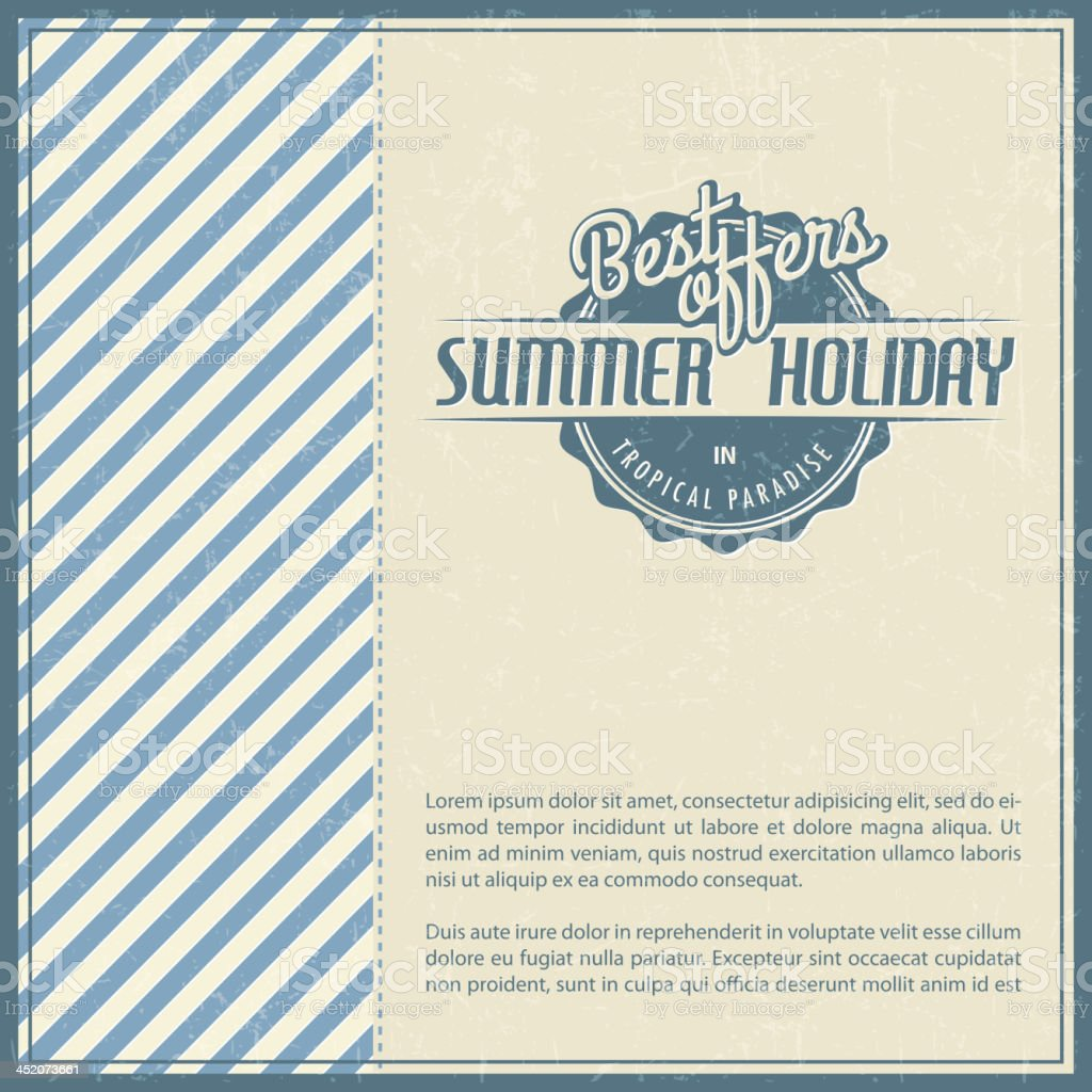 Retro elements for Summer calligraphic designs royalty-free stock vector art