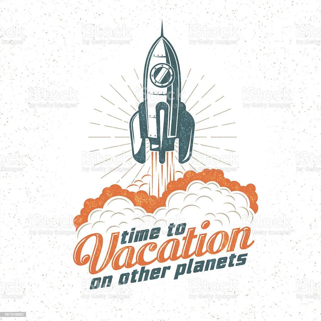 retro emblem vector art illustration