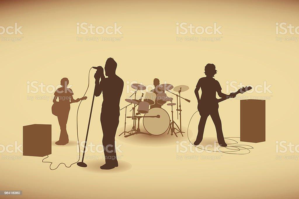 Retro fabulous band vector art illustration