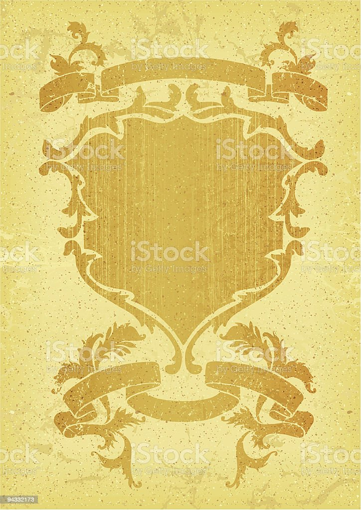 Retro Fade Shield royalty-free stock vector art