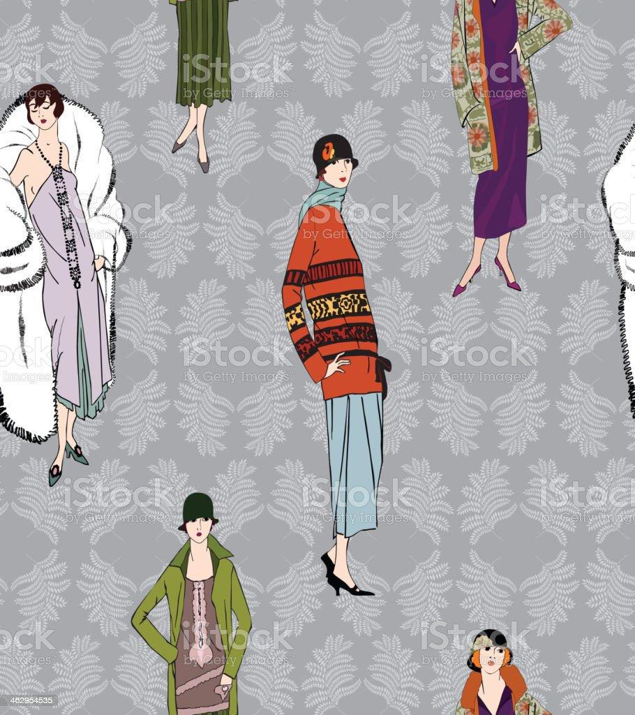 Retro fashion tileable pattern royalty-free stock vector art