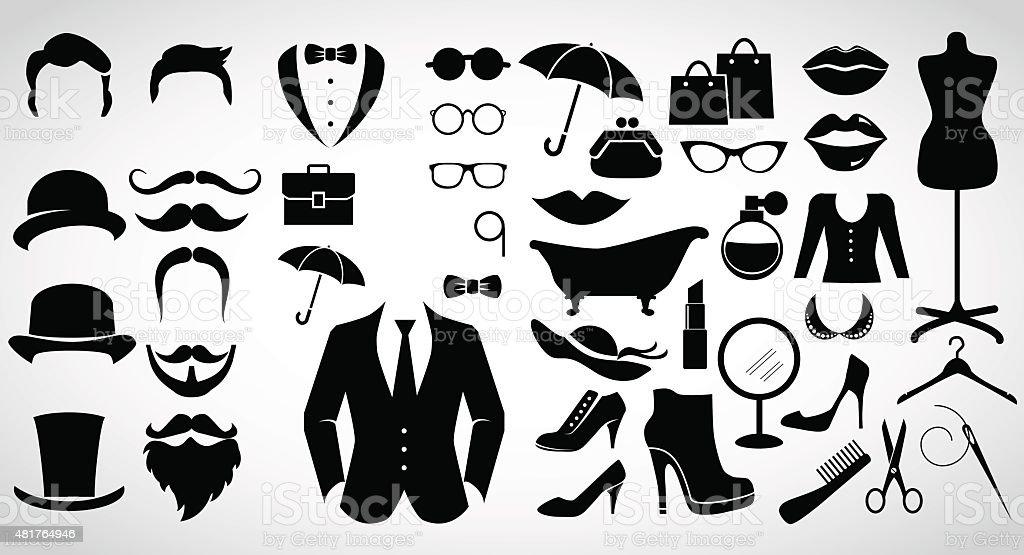 Retro fashion. vector art illustration