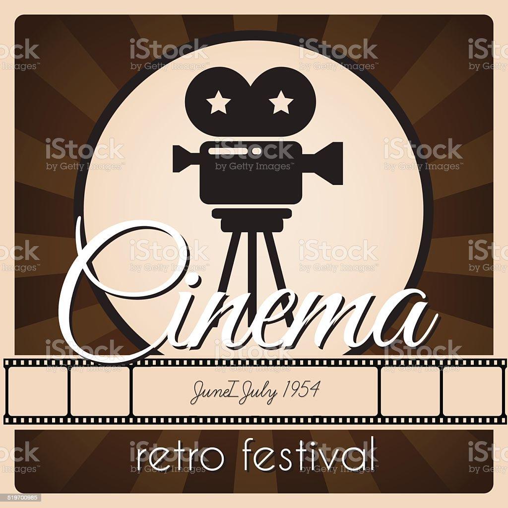 Retro festival poster. vector art illustration