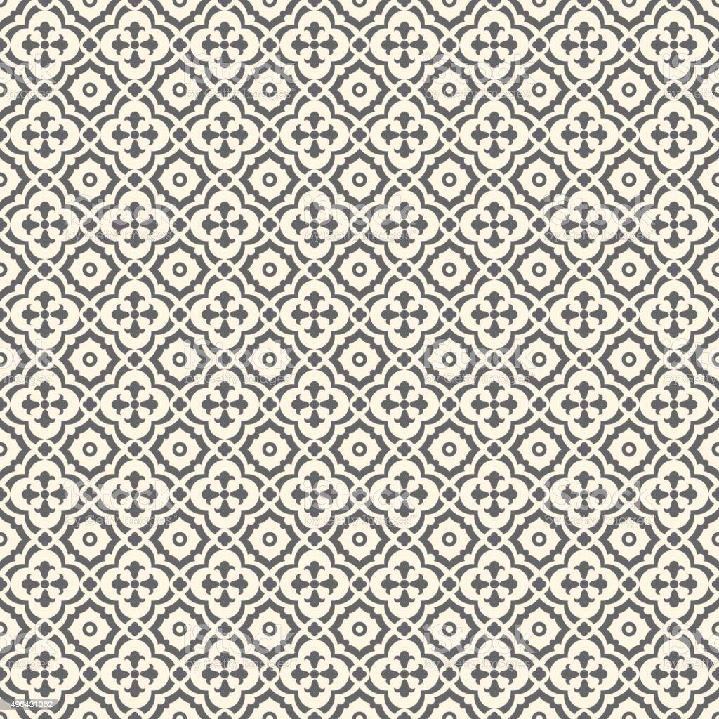 Retro Floor Tiles patern vector art illustration
