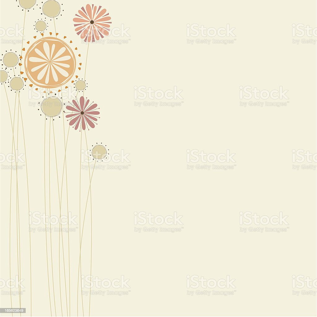 retro floral card royalty-free stock vector art