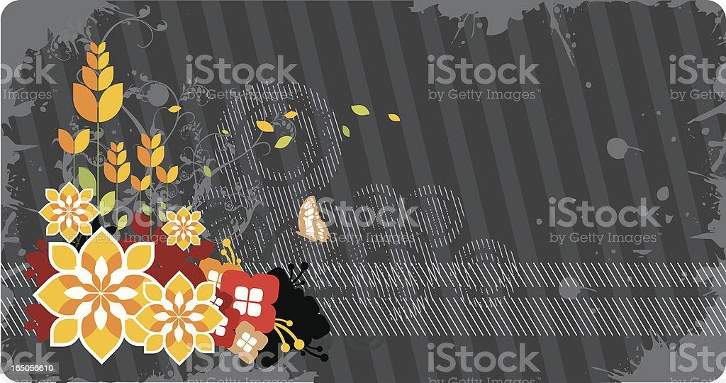 Retro floral design royalty-free stock vector art