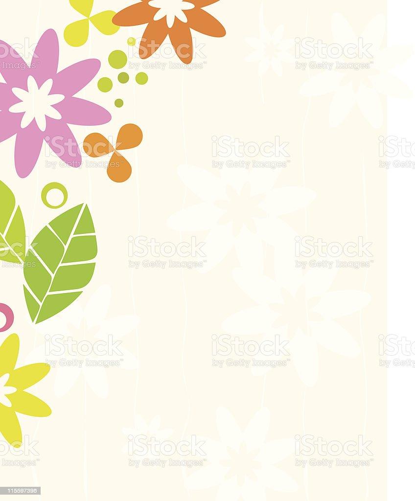 Retro Floral Frame vector art illustration