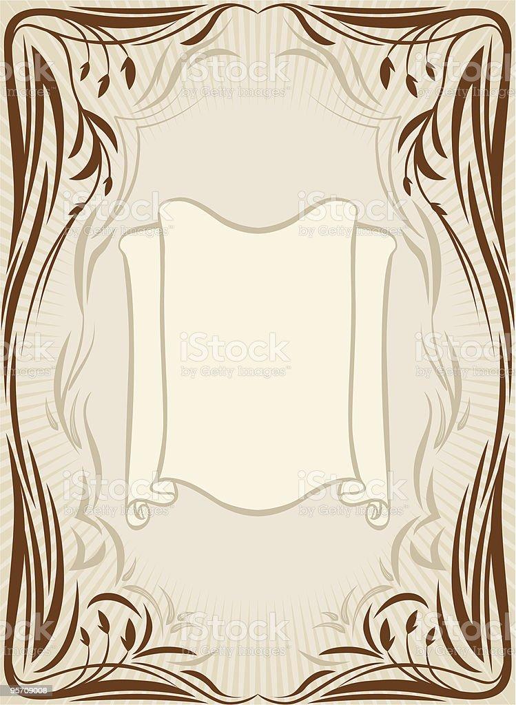 Retro floral frame royalty-free stock vector art