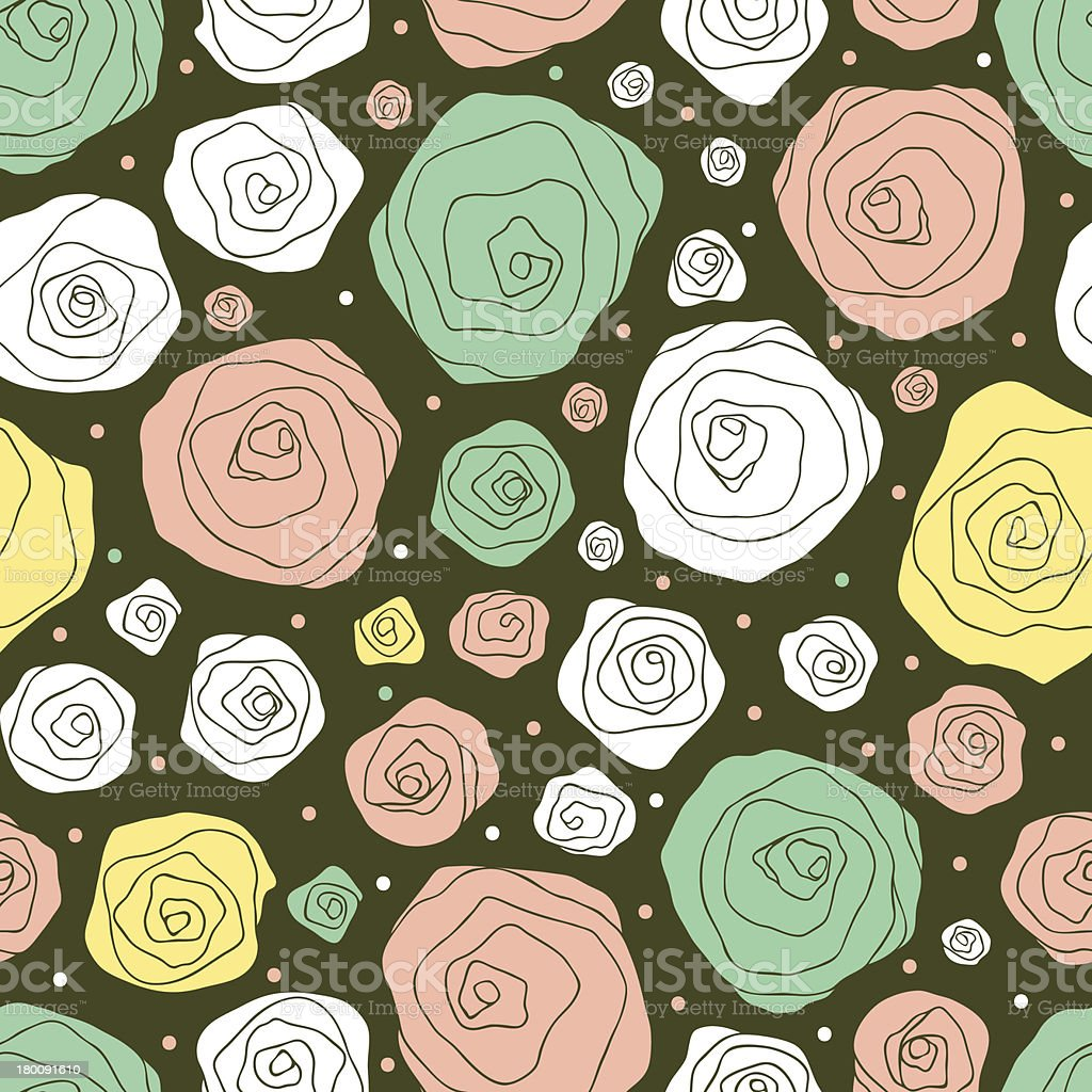 retro floral pattern royalty-free stock vector art
