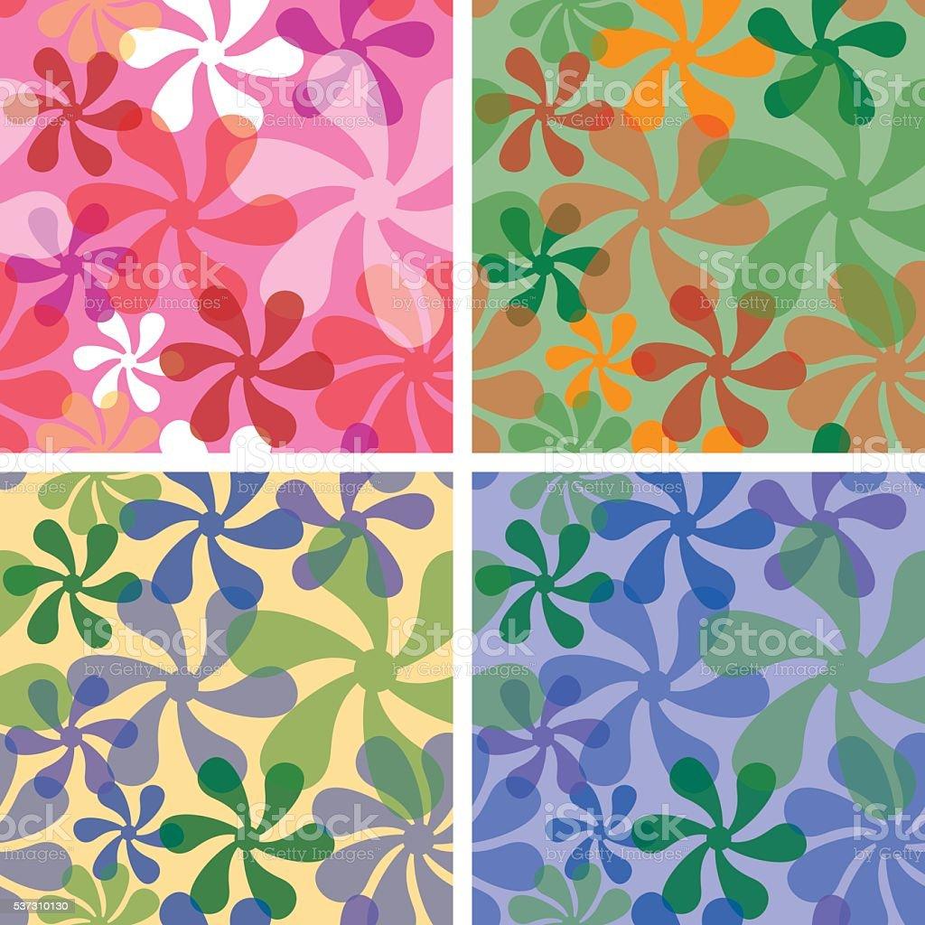 Retro Floral Patterns vector art illustration