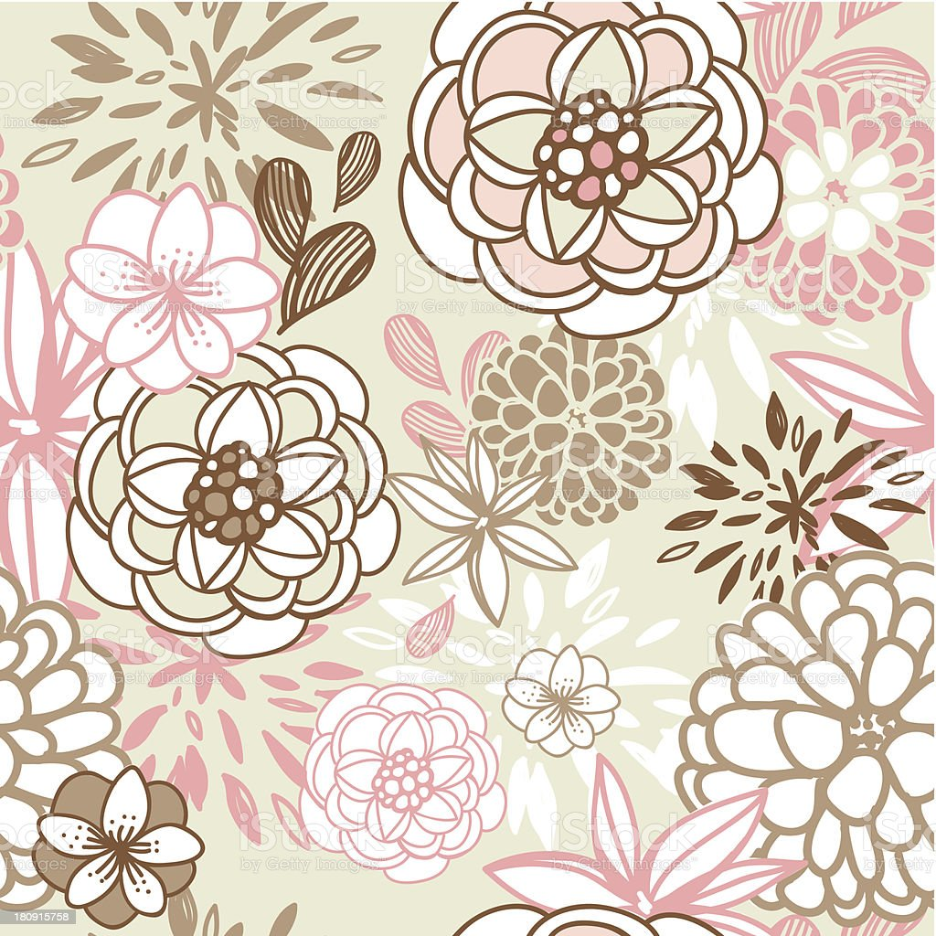 Retro floral seamless background royalty-free stock vector art
