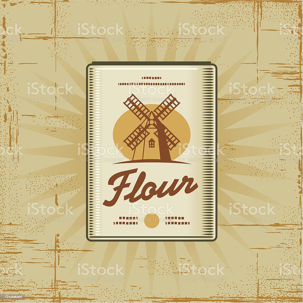 Retro Flour Pack royalty-free stock vector art