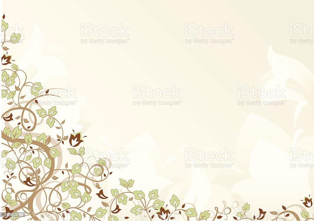 Retro Flower Background royalty-free stock vector art