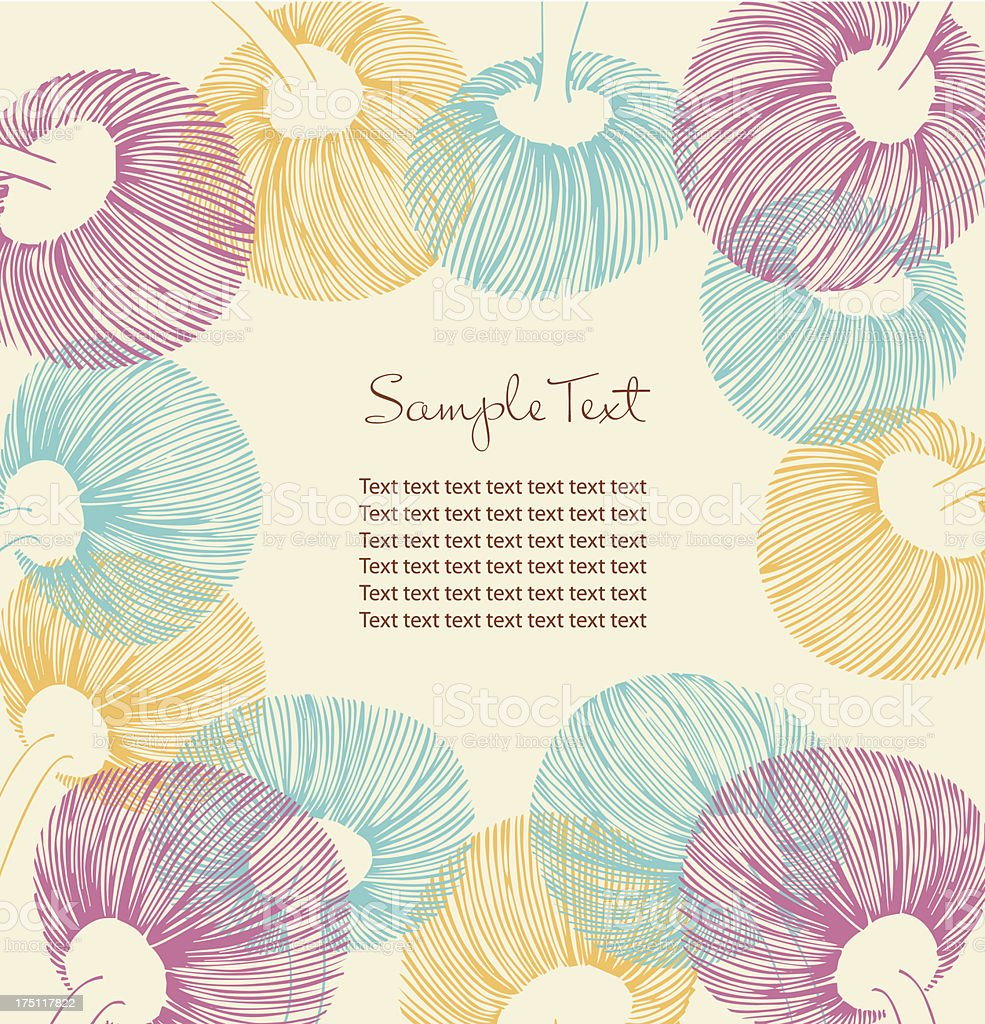 Retro flower banner with place for your text royalty-free stock vector art