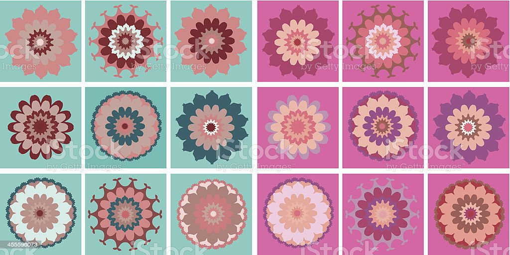 Retro Flowers royalty-free stock vector art