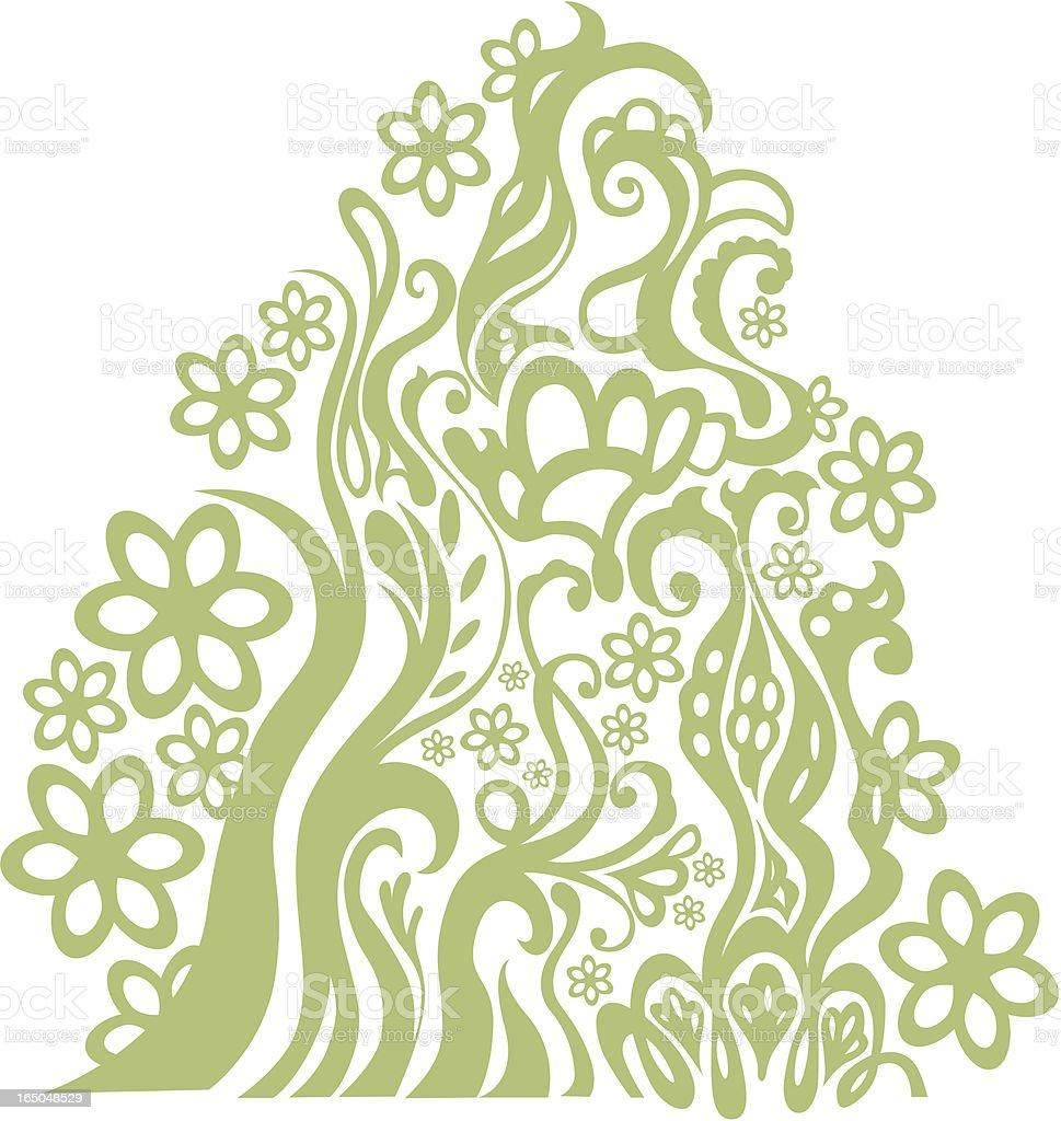Retro flowery design vector royalty-free stock vector art
