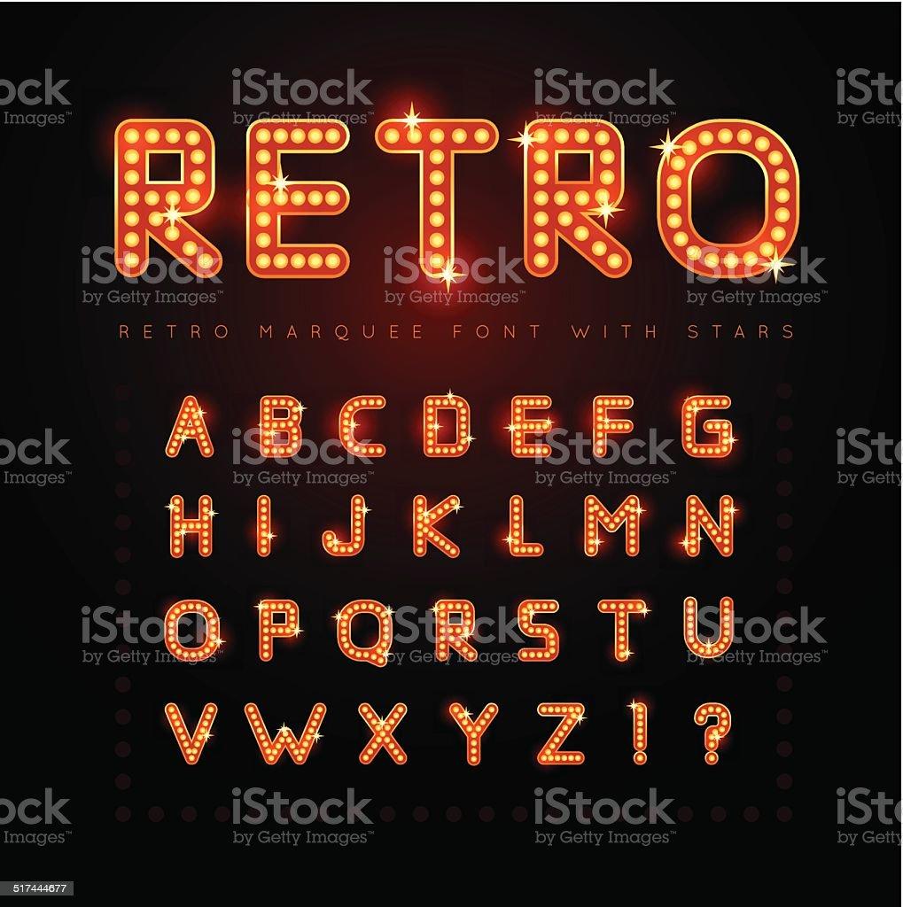Retro font vector art illustration