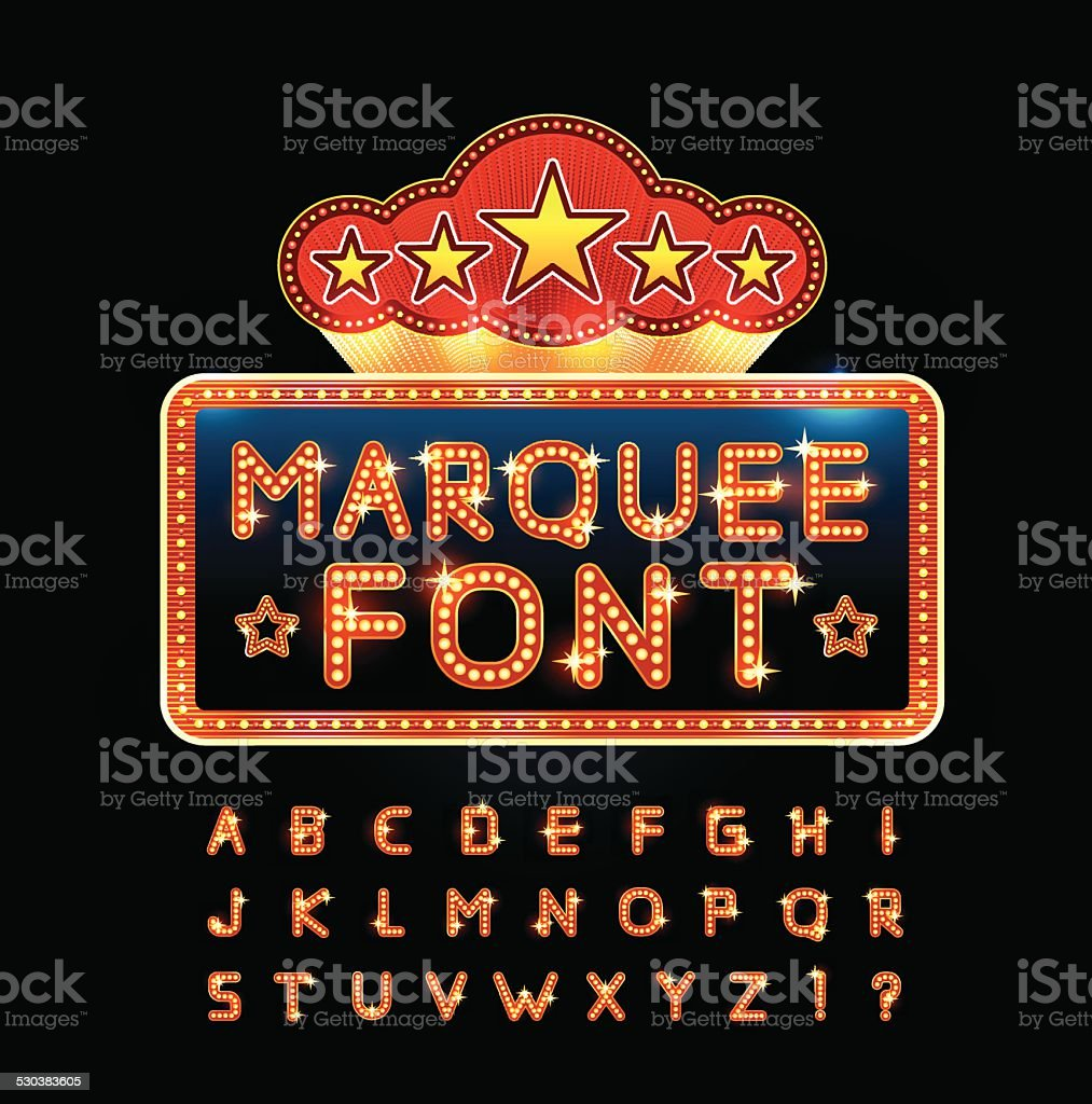 Retro font vector art illustration