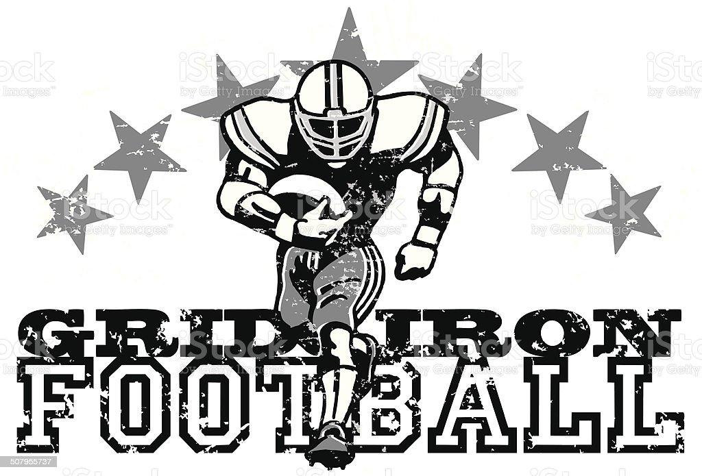 Retro Football Graphic Background vector art illustration