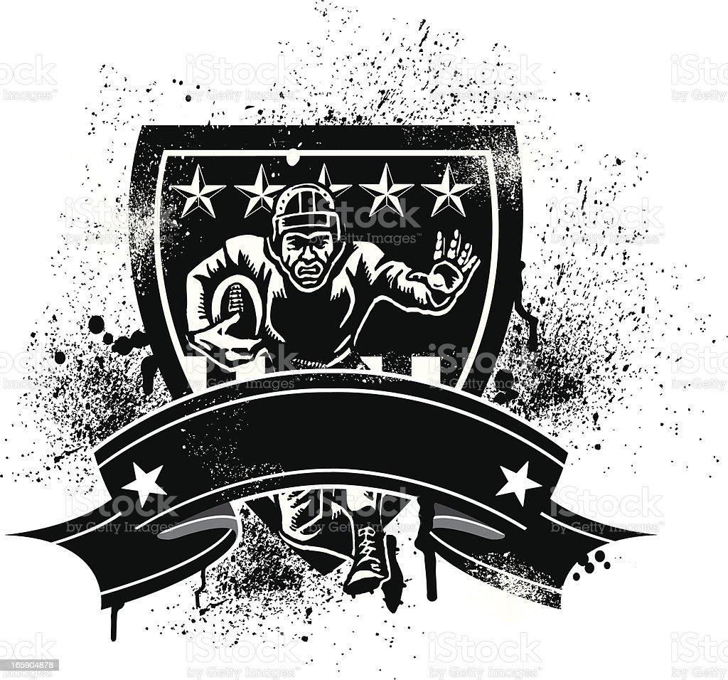 Retro Football Player - Grunge Banner royalty-free stock vector art