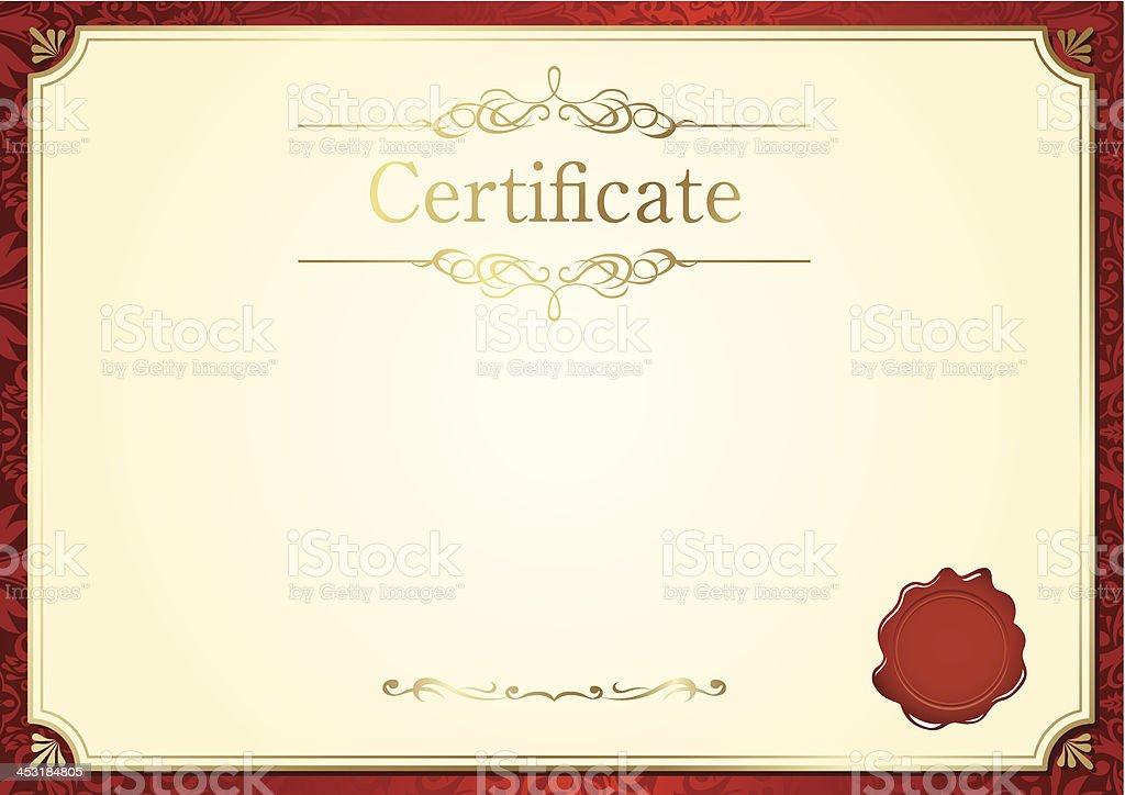 retro frame certificate template Vector vector art illustration