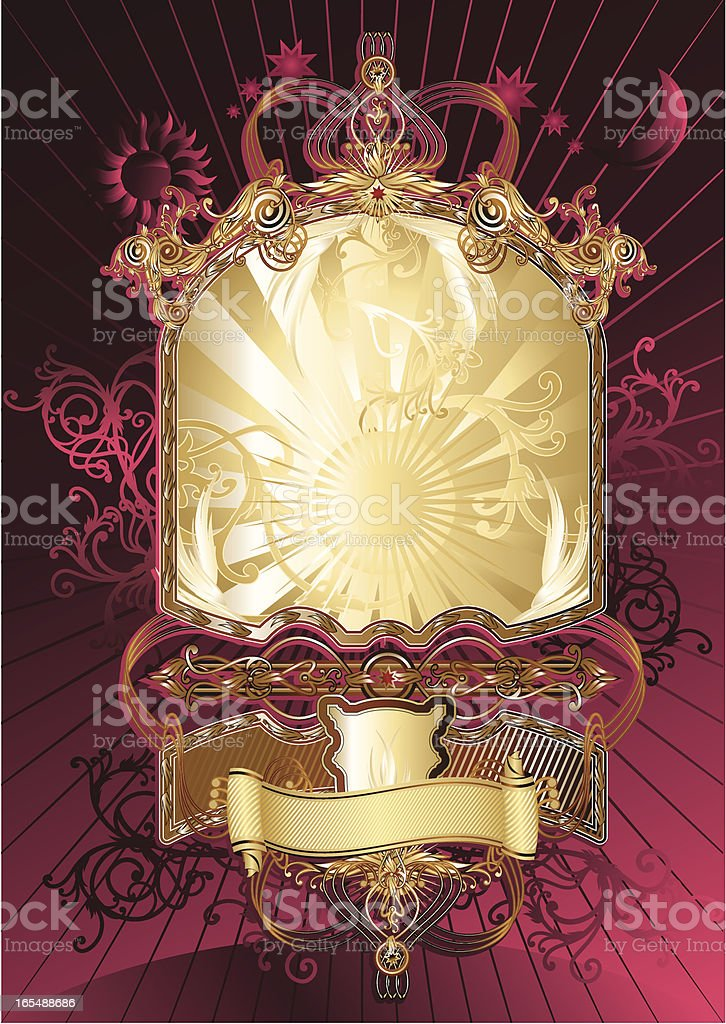 Retro frame II royalty-free stock vector art
