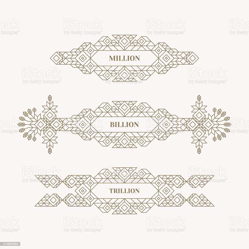 Retro Frame with Place for Text. Vintage Decoration Element. vector art illustration