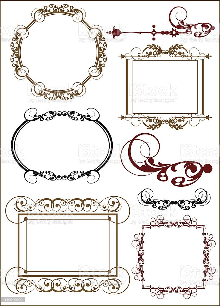 Retro Frames and banners  - set 14 royalty-free stock vector art