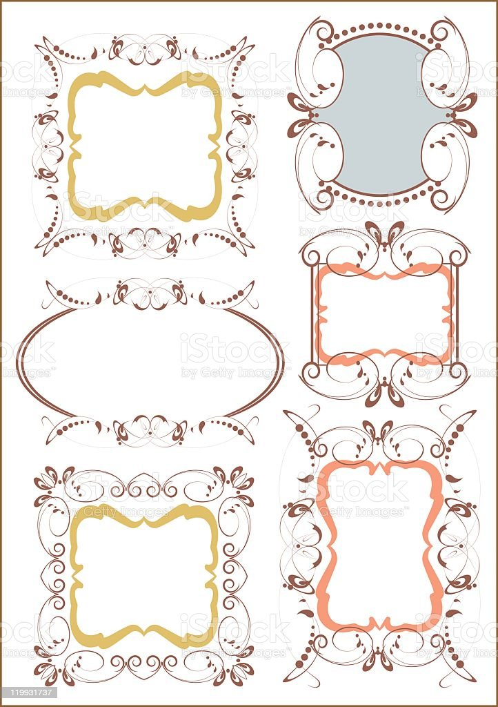 Retro Frames and banners  - set 18 royalty-free stock vector art