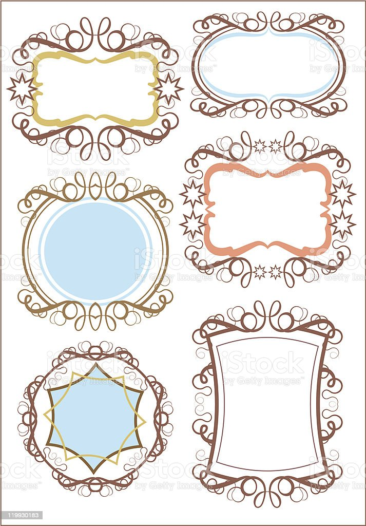 Retro Frames and banners  - set 19 royalty-free stock vector art