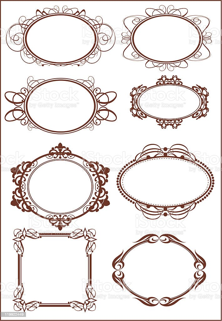 Retro Frames and banners  - set 22 royalty-free stock vector art