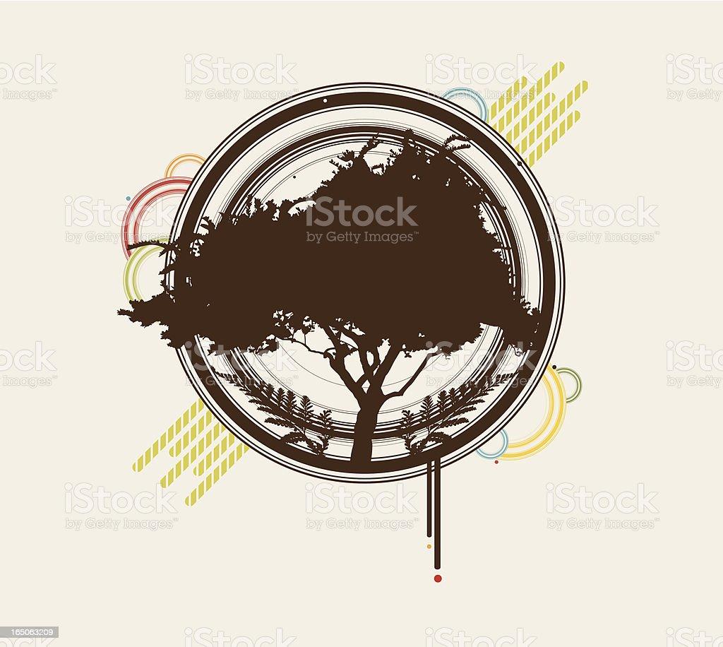 retro funky fern motif royalty-free stock vector art