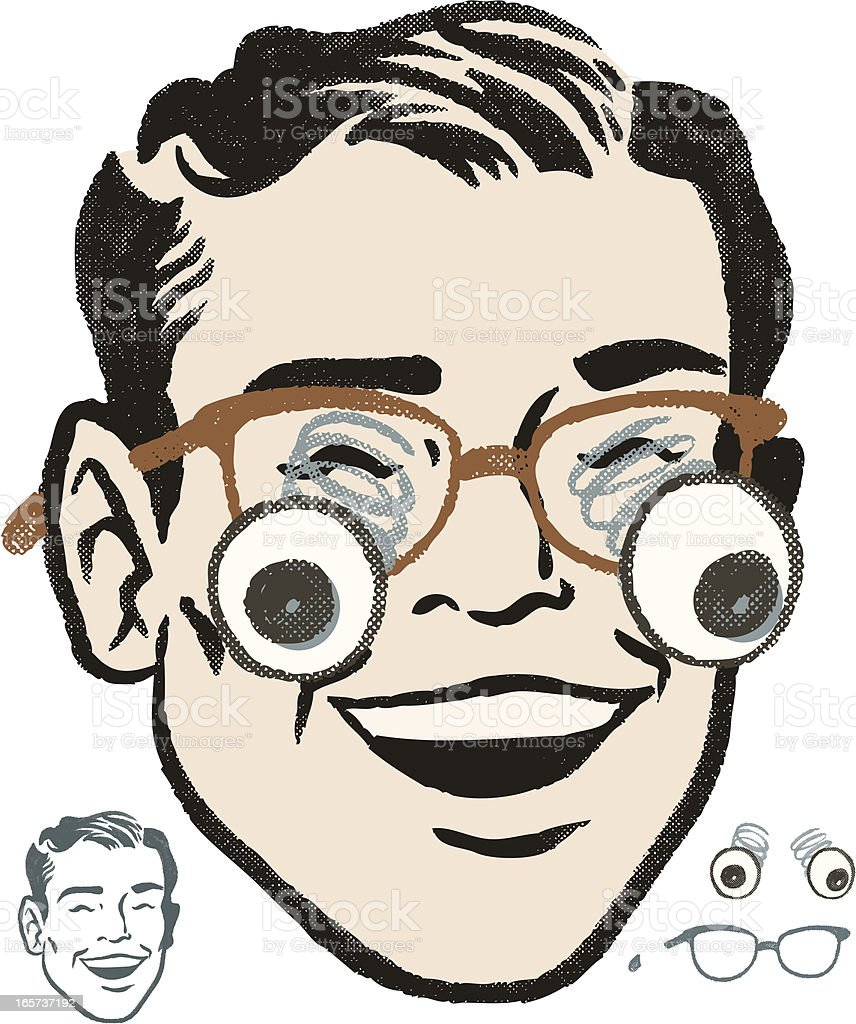 retro Gag Glasses vector art illustration