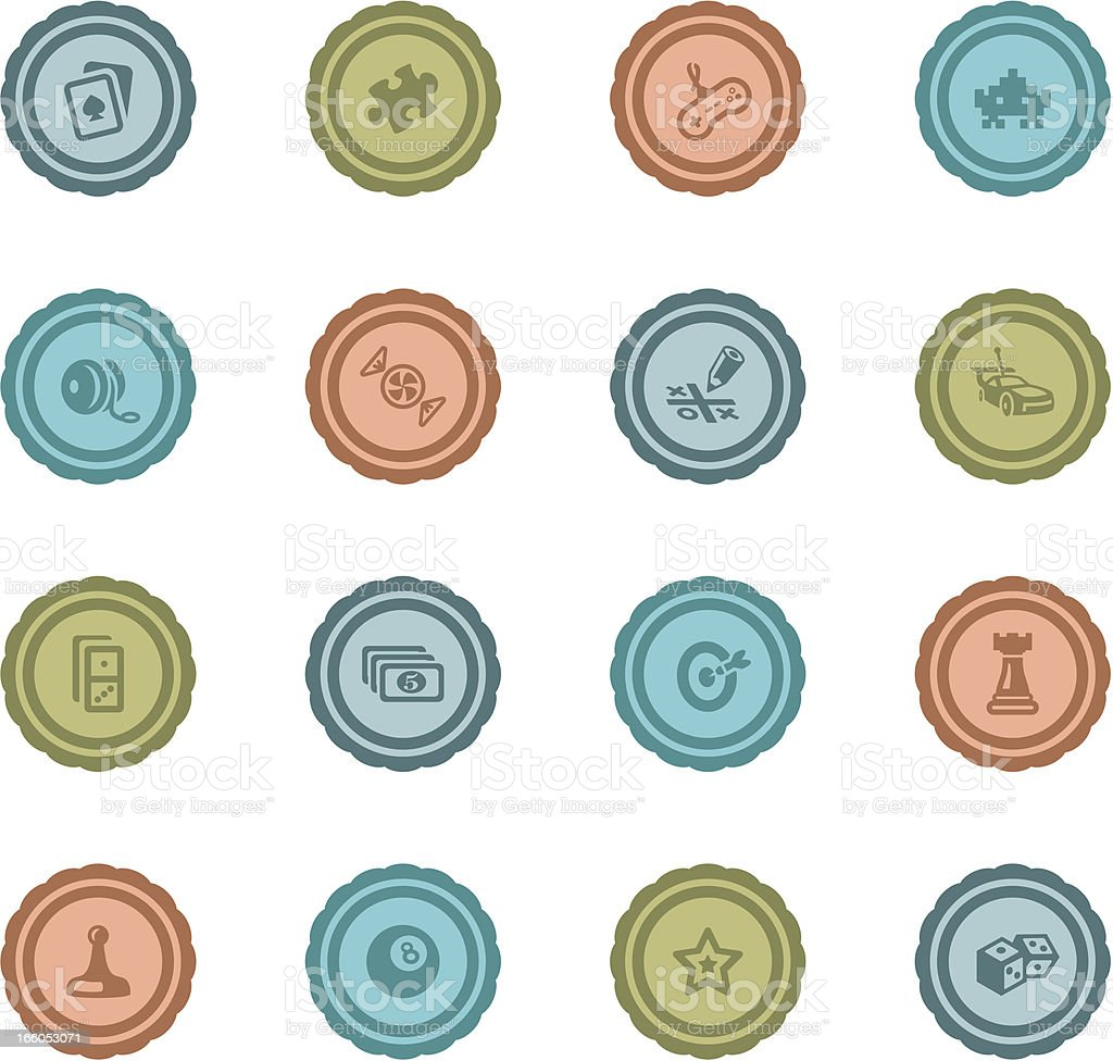 Retro Gaming Badges royalty-free stock vector art