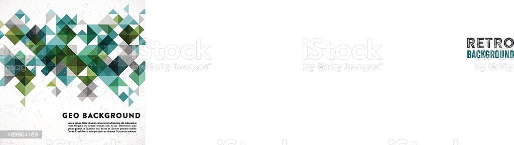 Retro Geometric Background vector art illustration