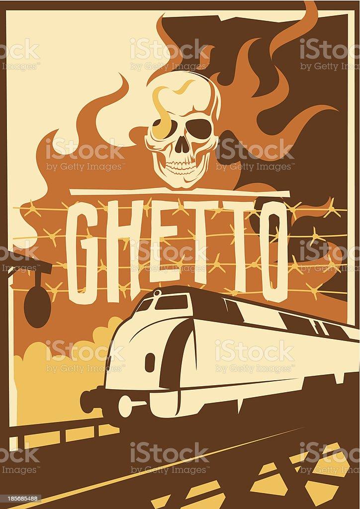Retro ghetto poster. royalty-free stock vector art