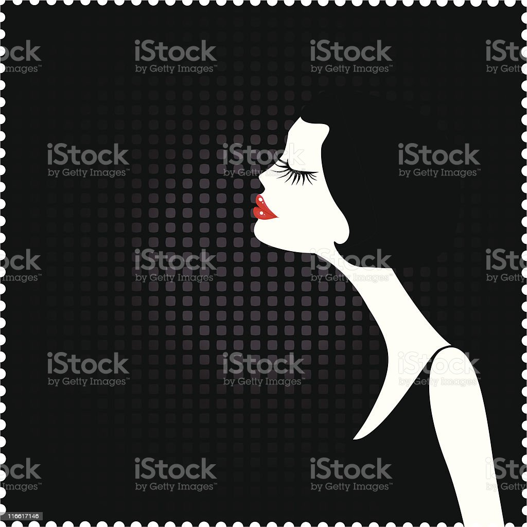 Retro Girl royalty-free stock vector art
