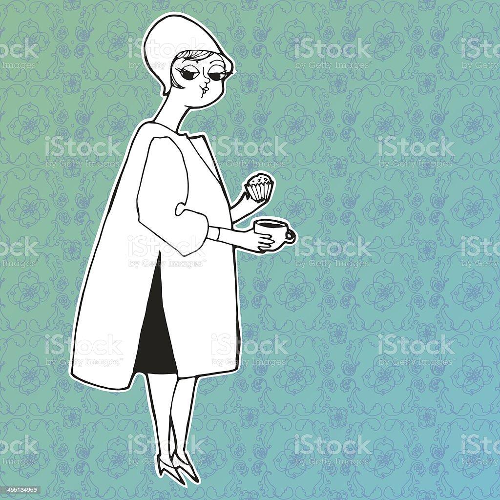 retro girl royalty-free stock vector art