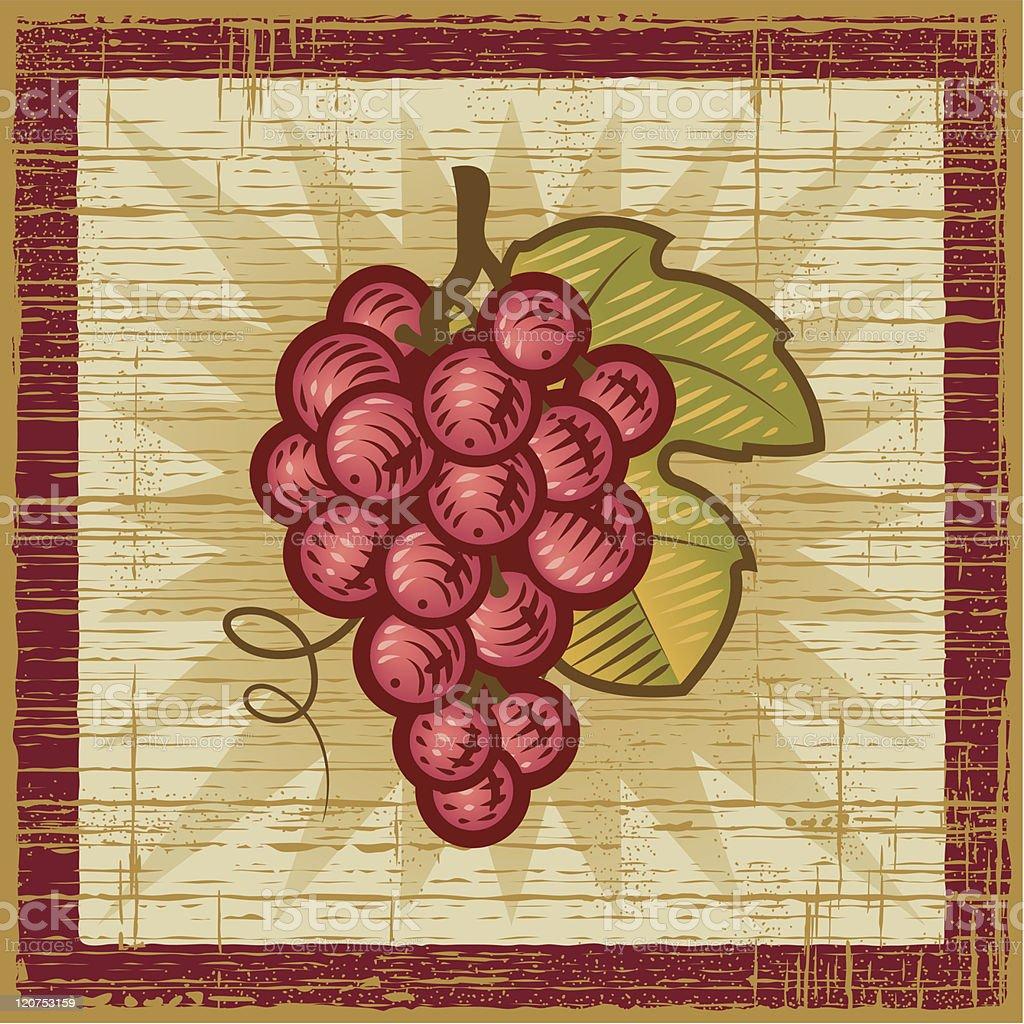 Retro grapes bunch royalty-free stock vector art