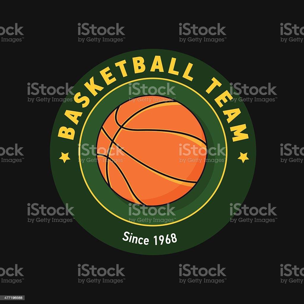 retro green color basketball badge stock vector art 477196588 istock