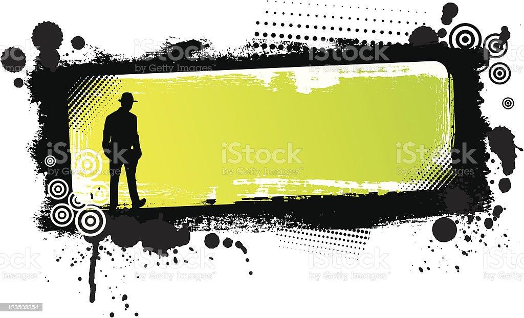 Retro grunge banner royalty-free stock vector art