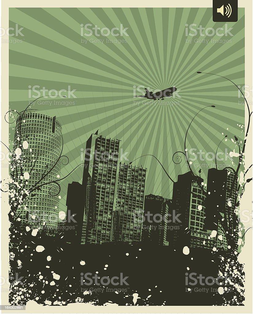 Retro Grunge City royalty-free stock vector art