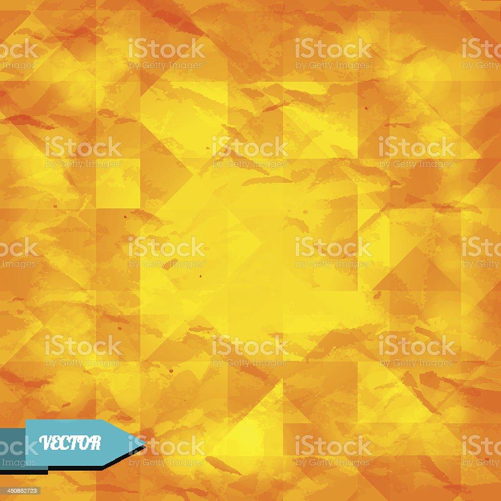 Retro grunge orange abstract geometric background royalty-free stock vector art