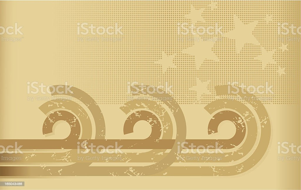 Retro grunge sepia stripes and stars background royalty-free stock vector art