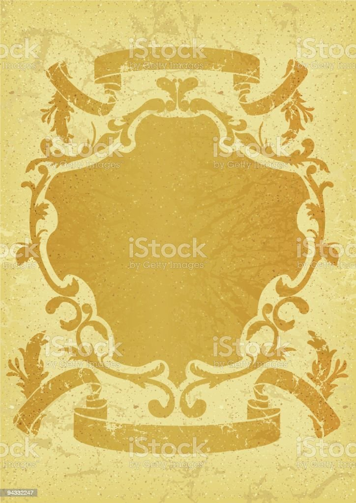Retro Grunge Shield royalty-free stock vector art
