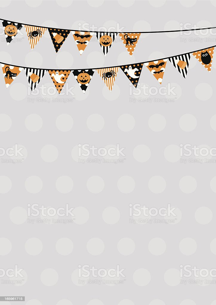 Retro Halloween themed bunting design with copy space vector art illustration