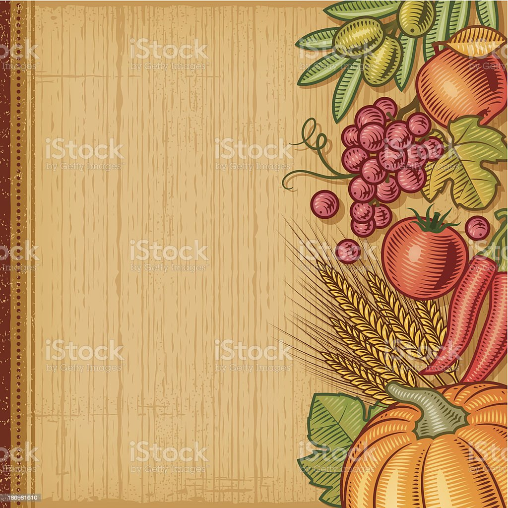 Retro harvest background royalty-free stock vector art