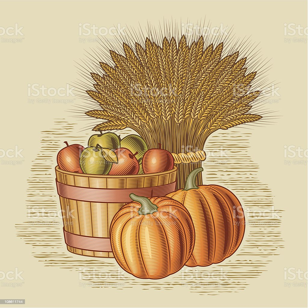 Retro harvest still life royalty-free stock vector art