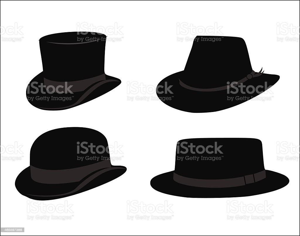 Retro hat set vector illustration vector art illustration