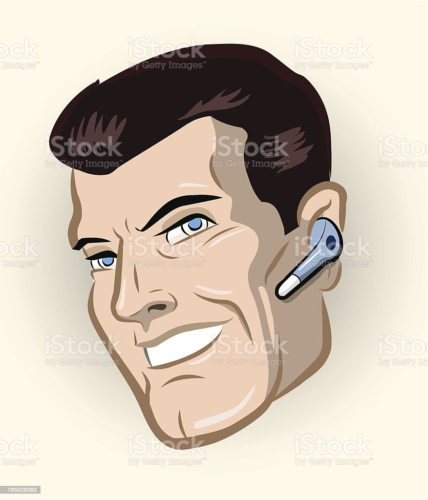 Retro Headset vector art illustration